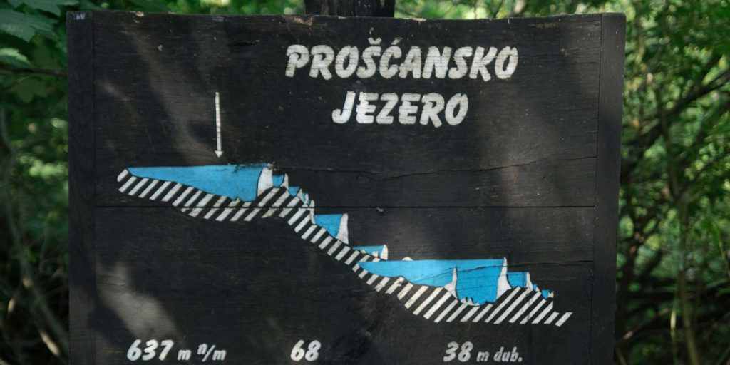 Proscansko-jezero-sign